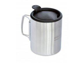 Pinguin Mug steel termohrnek s pokličkou (varianta stříbrná)